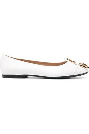 JW Anderson Anchor-logo detail ballerina shoes