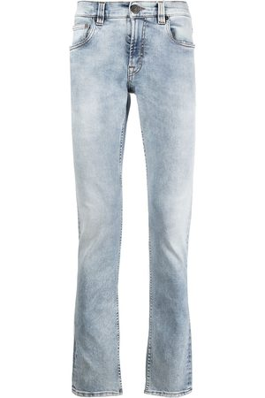 Etro Embroidered light wash jeans