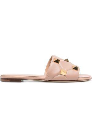 Valentino Garavani Rockstud quilted flat sandals