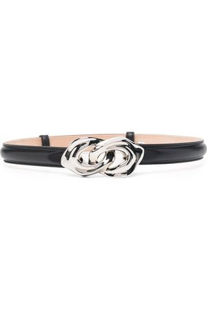 Alexander McQueen Sculptural-link leather belt
