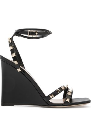 Valentino Garavani 110mm Rockstud-embellished wedge sandals