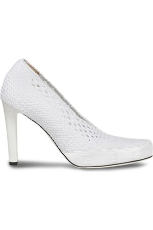 Fendi Fishnet perforated slip-on pumps