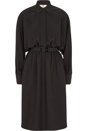 Fendi Belted silk trench coat