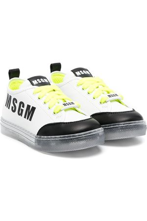 Msgm Kids Logo print trainers