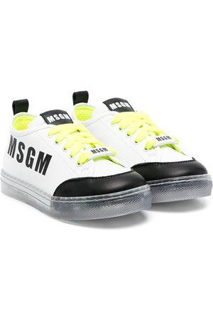 Msgm Logo print trainers