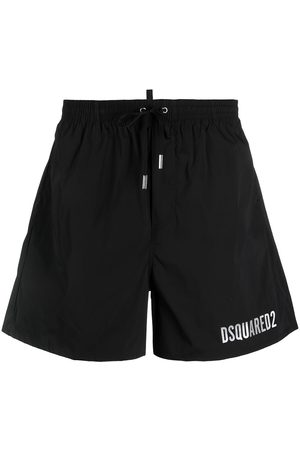 Dsquared2 Icon metallic-logo drawstring swim shorts