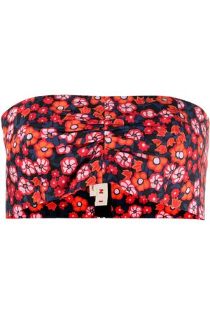 Marni Floral-print cropped top