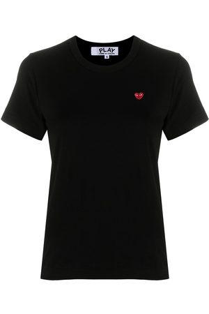 Comme des Garçons Embroidered-logo cotton T-shirt