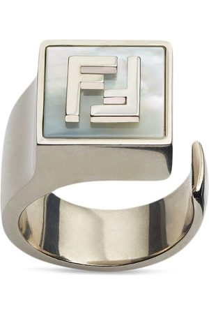 Fendi Men Rings - FF logo signet ring