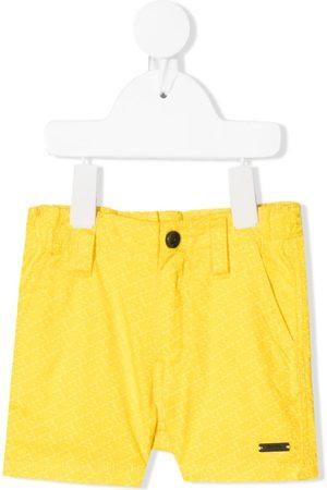 HUGO BOSS All-over logo print shorts