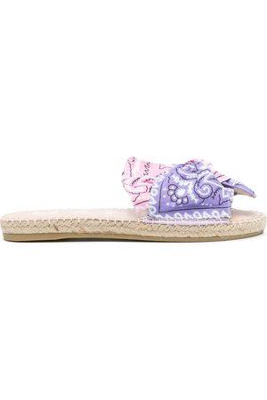 Manebi Bandana print sandals