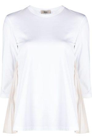 HERNO Pleat-insert cotton top