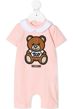 Moschino Teddy bear embroidered romper