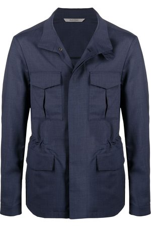 CANALI Men Jackets - Stand-up collar safari-style jacket