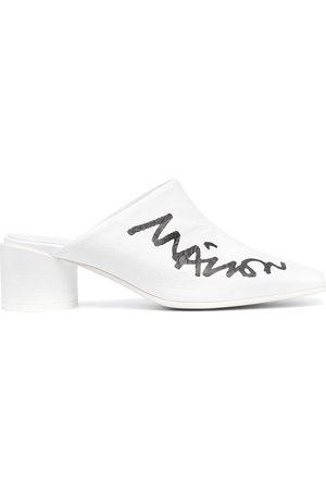 MM6 MAISON MARGIELA 50mm logo scrawl print mules