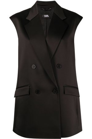 Karl Lagerfeld Women Blazers - Pleated back tailored gilet