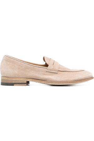 ALBERTO FASCIANI Suede-finish loafers