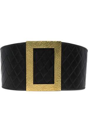 CHANEL Women Belts - 1994 diamond-quilted oversized buckle belt