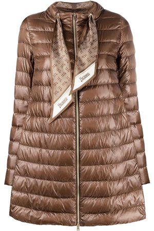 HERNO Women Coats - Scarf-detail padded coat