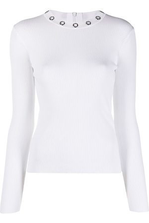 Michael Kors Ribbed eyelet-collar top