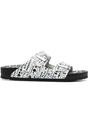 Birkenstock Abstract spot print two-strap sandals