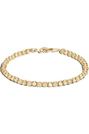 John Hardy 18kt yellow classic chain hammered beads bracelet