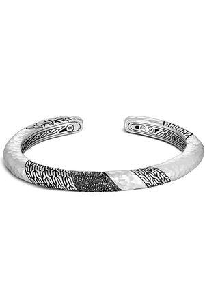 John Hardy Women Bracelets - Silver Classic Chain hammered 6.5mm slim kick cuff