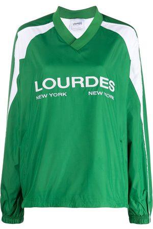 Lourdes Women Long Sleeve - Logo-print long-sleeved jersey