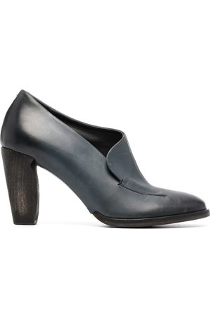 ROBERTO DEL CARLO Slip-on heeled leather pumps