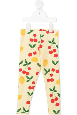 Mini Rodini Baby Pants - Lemon and cherry-print leggings