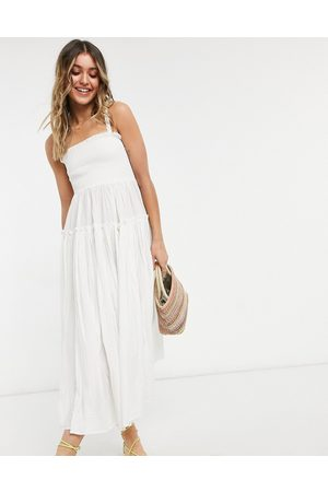 ASOS Cami midi sundress with raw edges in