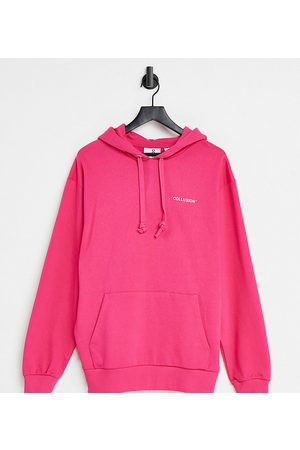 Collusion Unisex oversized logo hoodie in hot