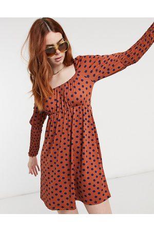 Miss Selfridge Polka dot mini dress in