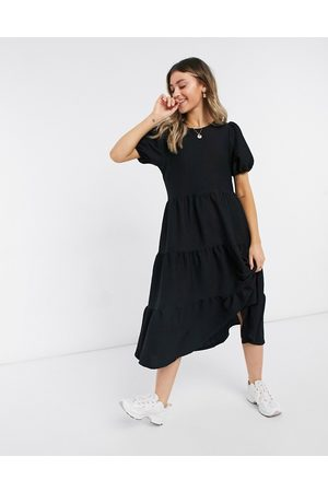 ASOS DESIGN Oversized textured midi smock dress in