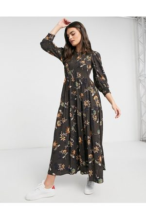 Y.A.S Maxi dress with tiered skirt in mixed paisely print