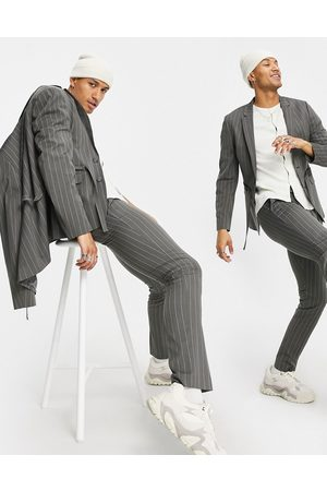 ASOS DESIGN Skinny suit trousers with pinstripe
