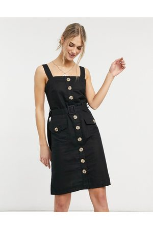Accessorize Button up beach dress in black
