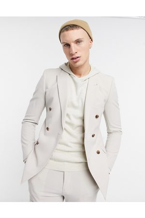 ASOS DESIGN Super skinny double breasted suit jacket in