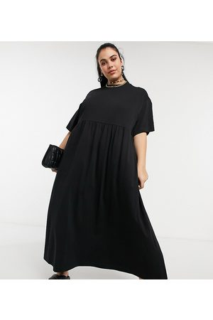 Collusion Plus maxi smock dress in