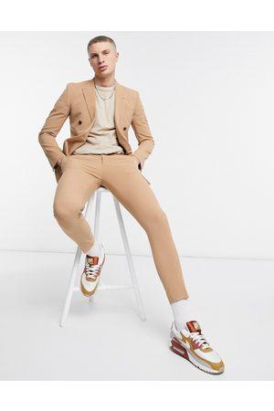 ASOS DESIGN Super skinny suit trousers in camel