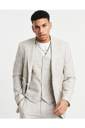 ASOS DESIGN Wedding skinny suit jacket in crosshatch