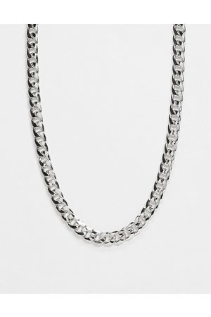 DesignB London Chunky chain long necklace in