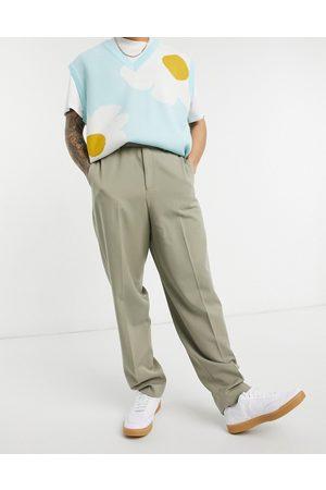 ASOS DESIGN High waist slim smart trousers in