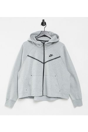 Nike Plus Tech Fleece zip thru hoodie in grey