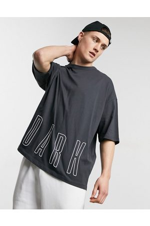ASOS Men Sets - Co-ord oversized heavyweight t-shirt with embroidery detail