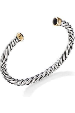 David Yurman Men Bracelets - Cable Bracelet In Sterling & 18-karat Yellow Gold with Onyx