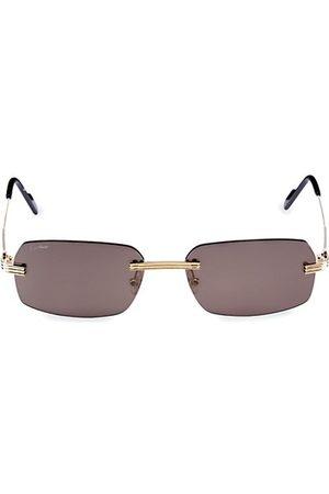 Cartier Men Sunglasses - Core Range 58MM Rectangular Sunglasses
