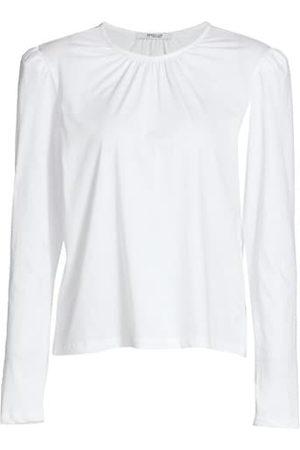 Derek Lam Kary Long Puff-Sleeve T-Shirt