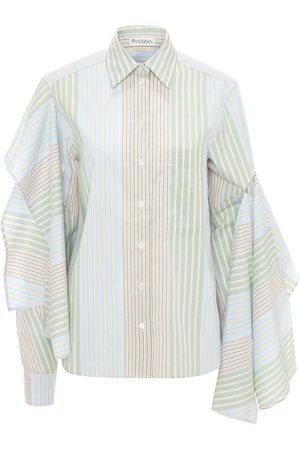 J.W.Anderson Women Tops - Draped-sleeve cotton shirt