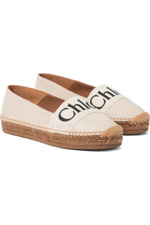 Chloé Woody leather espadrilles